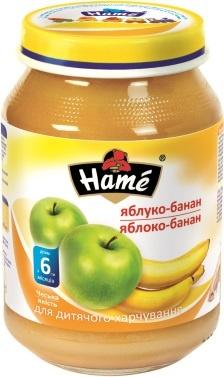 Хаме пюре 190гр яблоко и банан