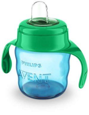Philips Avent Чашка с мягким носиком и ручками  6+, зеленая 200 мл
