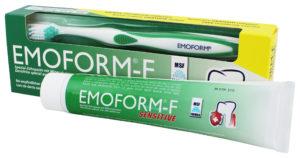 Зубная паста для чувствительных зубов +зубная щетка Dr.Wild Emoform (Эмоформ)