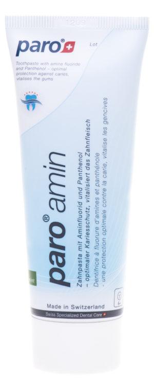 Зубная паста AMIN с аминофторидом 75мл  Paro (Паро)