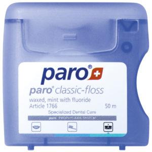 Зубная нить CLASSIC-FLOSS вощеная  с мятой 50м  Рaro (Паро)