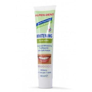 Зубная паста отбеливающая с Алое Вера 100мл Alpen-Dent (Альпен Дент)