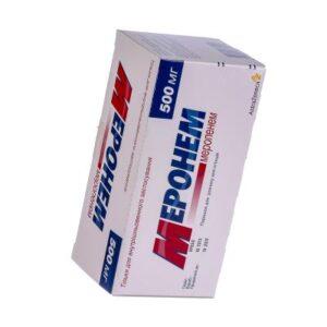 Меронем (меропенем) для инъекций 500мг 10