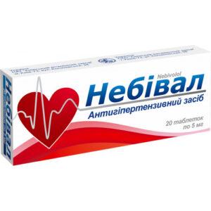 Небивал 5мг таблетки 20шт (Небиволол)