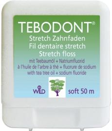 Зубная нить с маслом чайного дерева Тебодонт TEBODONT 50м