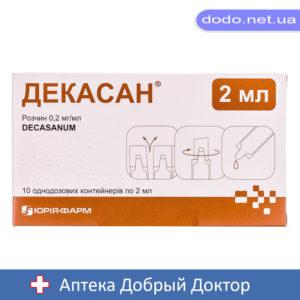 Декасан раствор 2мл 10 небул-Аптека Добрый Доктор