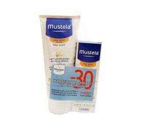 Набор- Bebe лосьон и колд крем Питание и защита для сухой кожи 200мл + 40 мл Mustela (Мустела)