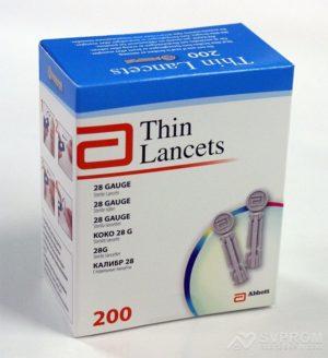 Ланцеты Универсальный США Thin Lancets 200