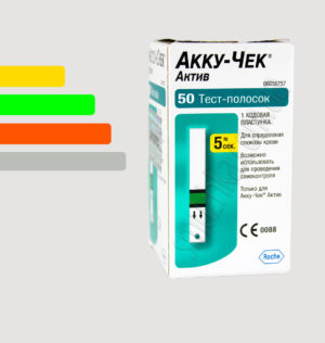 Тест полоски Акку-Чек Актив Глюкоза 50