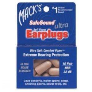 Беруши MACKS пенопл. Ultra SafeSound 32 дб. 10
