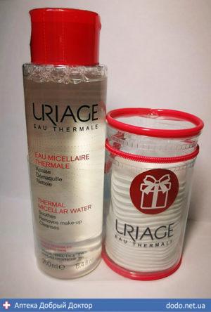 Набор Мицелярная вода(чувствительная кожа) + косметичка 250 мл URIAGE (Урьяж)