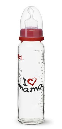 Бутылочка Bibi Премиум стеклян.240мл соска Дентал M