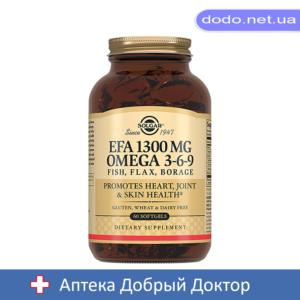 ЕЖК 1300мг. Омега-3-6-9 капсулы 60шт Solgar (Солгар)_025516-Аптека Добрый Доктор