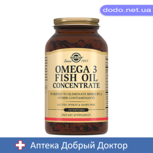 Концентрат рыбьего жира Омега-3 капсулы 120шт Solgar (Солгар)_025515-Аптека Добрый Доктор