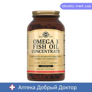 Концентрат рыбьего жира Омега-3 капсулы 60шт Solgar (Солгар)