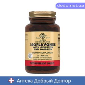 Суперконцентрат изофлавонов 30 теблеток Solgar (Солгар)_028787-Аптека Добрый Доктор