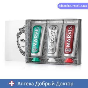 Набор 3 зубных пасты класик, отбеливающая, корица 3х25мл Марвис MARVIS-Аптека Добрый Доктор