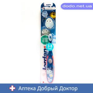 Детская зубная щетка 3-5 лет, мягкая с колпачком для путешествий Jordan (Джордан) Step2