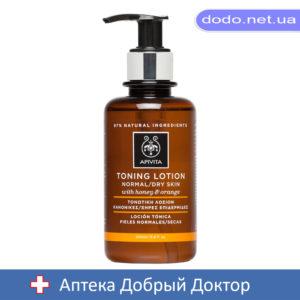 Лосьон тонизирующий для нормальной-сухой кожи с медом и апельсином 200мл Apivita (Апивита)