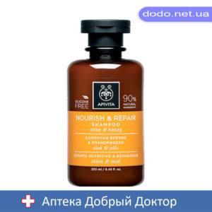 Шампунь восстанавливающий питающий с оливковым маслом и медом 250мл Apivita (Апивита)