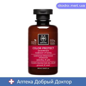 Шампунь для защиты цвета окрашенных волос с подсолнечником и медом 250мл Apivita (Апивита)