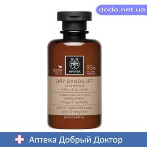 Шампунь от перхоти для сухих волос с сельдереем и прополисом 250мл Apivita (Апивита)