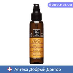 Масло для восстановления и питания волос с арганой и оливками 100мл Apivita (Апивита)