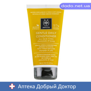 Нежный ежедневный кондиционер для всех типов волос с ромашкой и медом 150мл Apivita (Апивита)