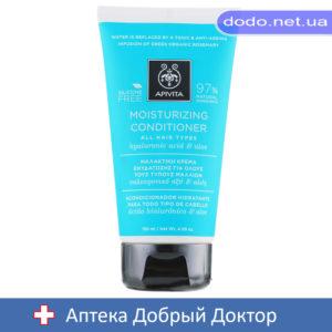 Кондиционер для всех типов волос увлажняющий с гиалуроновой кислотой и алоэ 150мл Apivita (Апивита)