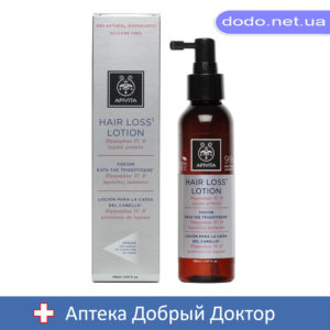 Лосьон от выпадения волос с облепихой, люпином и протеином 150мл Apivita (Апивита)