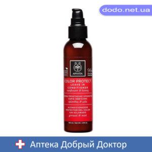 Кондиционер несмываемый для защиты цвета волос с подсолнухом и медом 150мл Apivita (Апивита)
