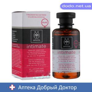 Деликатный очищающий гель для интимной гигиены с чайным деревом и прополисом 200мл Apivita (Апивита)