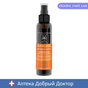 Солнцезащитное масло для волос с подсолнухом и абиссинским маслом 150мл Apivita (Апивита)