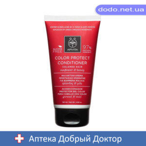 Кондиционер для окрашенных волос с подсолнечником и медом 150мл Apivita (Апивита)