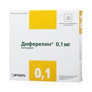 Диферелин порошок 0.1мг и растворитель 1мл N7 (Декапептил)