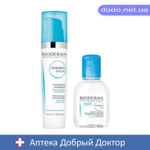 Набор Гидрабио сыворотка 40мл+Гидрабио Н2О мицеллярный лосьон 250мл Bioderma (Биодерма)