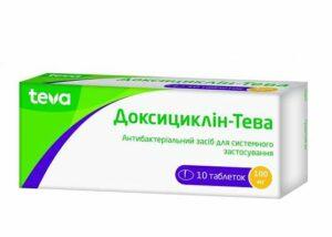 Доксициклин-Тева 100мг №10 таблетки