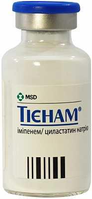 Тиенам (имипенем,циластатин) порошок для инфузий №1