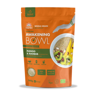 Завтрак Ишвари Awakening Bowl Манго, баобаб 360г (натуральное питание ISWARI)