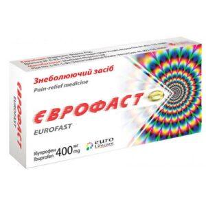 Еврофаст 400мг капсулы мягкие №10 Ибупрофен