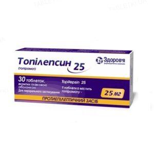 Топилепсин 25мг таблетки №30 Топиромат