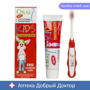 Детский набор Oral7 Наглый кролик Зубная паста + щетка с 3 до 12 лет 50 мл
