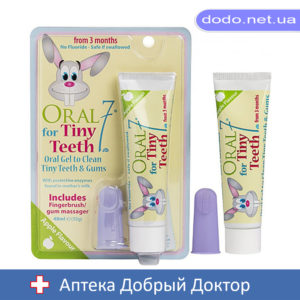Детский набор Oral7 Хэппи малыш Зубная паста-гель + Щетка на палец с 3 месяцев до 3 лет 48 мл