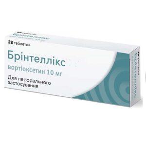 Бринтелликс 10мг таблетки N28 Вортиоксетин