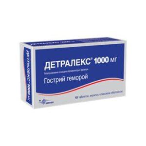 Детралекс геморой 1000мг 18 таблетки