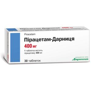 Пирацетам-Дарница 400мг таблетки 30шт