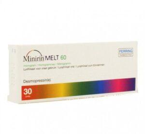 Минирин Мелт лиофилизат оральный 60мкг №30 (Десмопрессин)