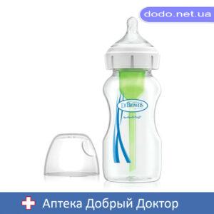 Антиколиковая бутылочка для кормления с широким горлышком Options+, 270 мл, 1 шт. в упаковке Dr.Brow