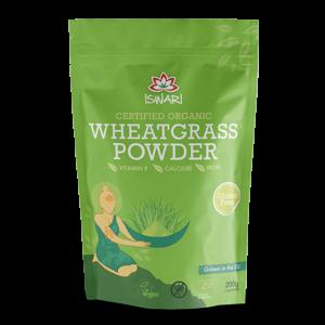 Пырей порошок Ишвари Wheatgrass Powder 200г (натуральное питание ISWARI)
