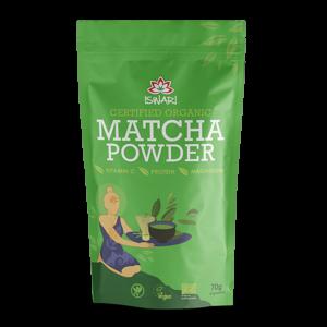 Матча порошок Ишвари Matcha Powder 70г (натуральное питание ISWARI)